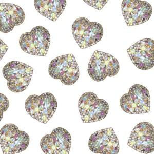 kryształki serduszka